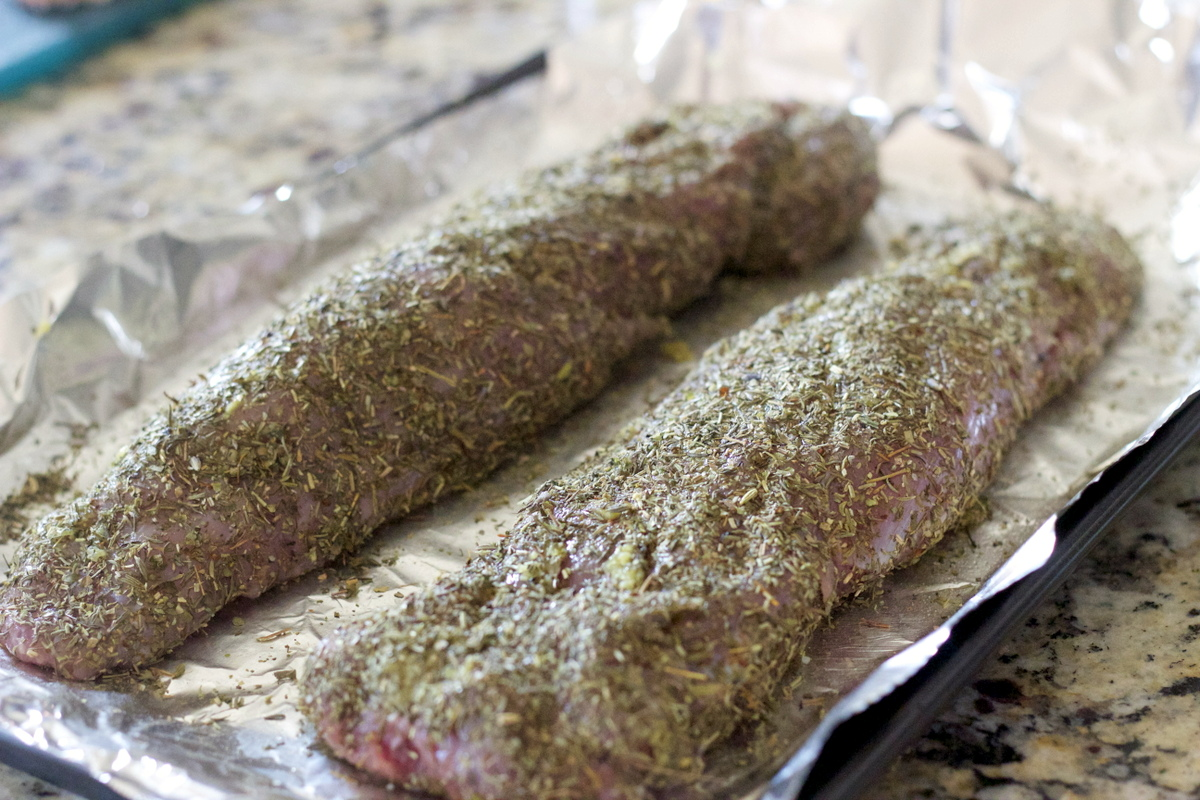 Recipe for rosemary crusted pork loin